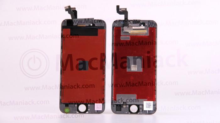 Vuotokuvassa iPhone 6:n ja 6S:n näyttöpaneelit rinnakkain.