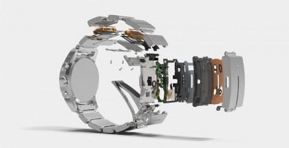 Sony Wenan älyelektroniikka on rannekkeen sisällä.