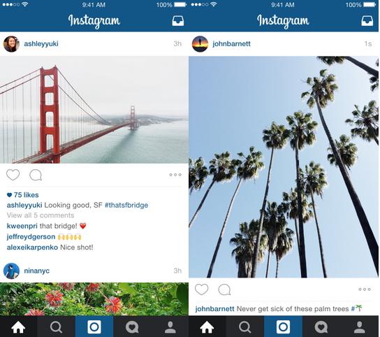 Instagramiin ei enää tarvitse ladata vain neliökuvia