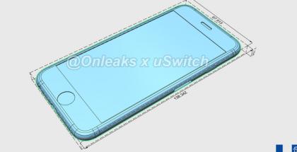 iPhone 6S CAD-mallinnettuna.