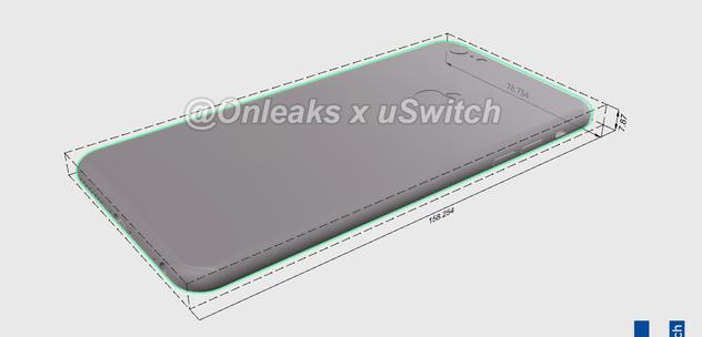 iPhone 6S Plus CAD-mallinnettuna.