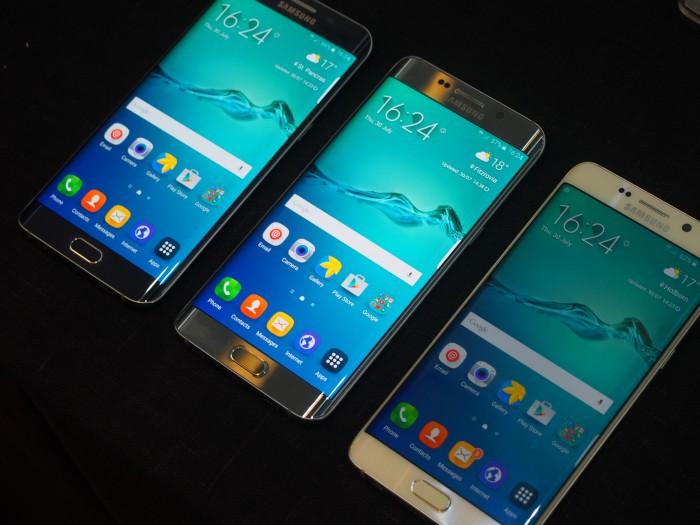 Galaxy S6 edge+:n eri värivaihtoehtoja