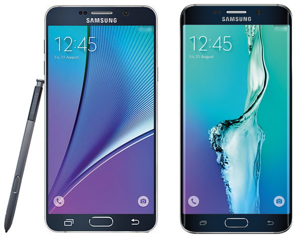 Galaxy Note 5 ja Galaxy S6 edge+