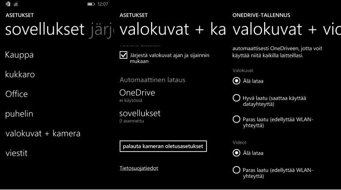 windows phone onedrive
