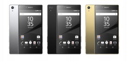 Sony Xperia Z5 Premium eri väreissä