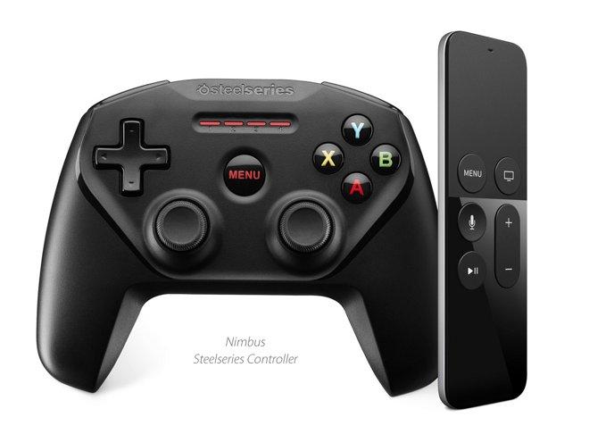 SteelSeries Nimbus on uudelle Apple TV:lle ja iOS- sekä Mac-laitteille tarkoitettu Bluetooth-peliohjain.