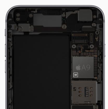 Applen A9 -suorittimeen on sisällytetty M9 -apuprosessori