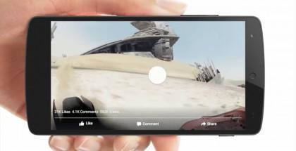 Vapaasti käänneltävää videota Android-laitteen ruudulla