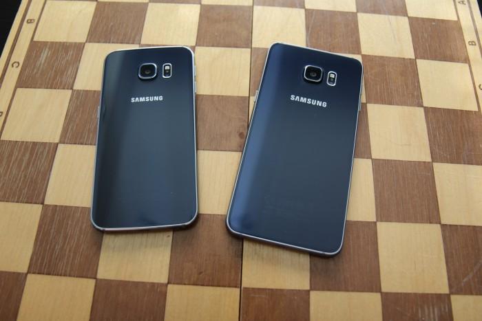 Vasemmanpuoleinen Galaxy S6 edge käyttää rungossaan 6000-sarjan alumiinia, kun taas oikealla oleva edge+ käyttää 7000-sarjan alumiinia.