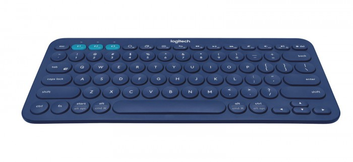Logitech K380 -bluetooth-näppäimistö sinisenä