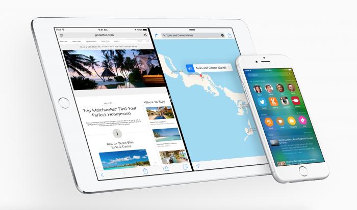iOS 9 eli Monarch.
