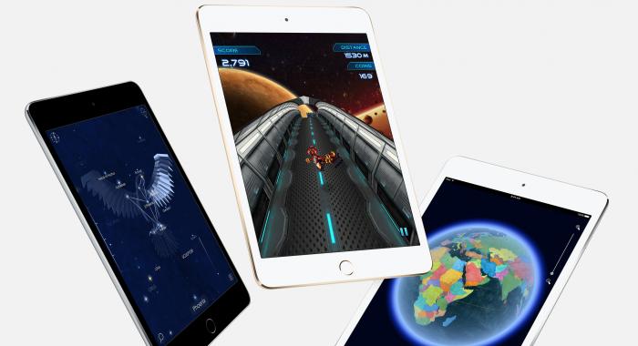 Nykyinen iPad mini 4.
