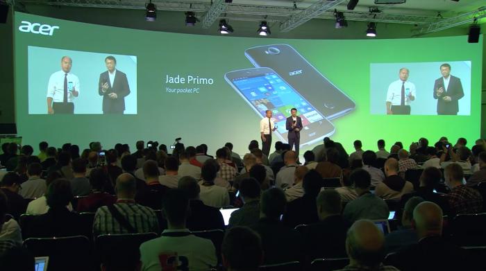 Acer esitteli Jade Primoa Berliinin IFA-messuilla.