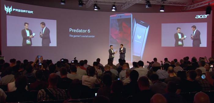 Acer esitteli Predator 6:n IFA-messuilla Berliinissä.
