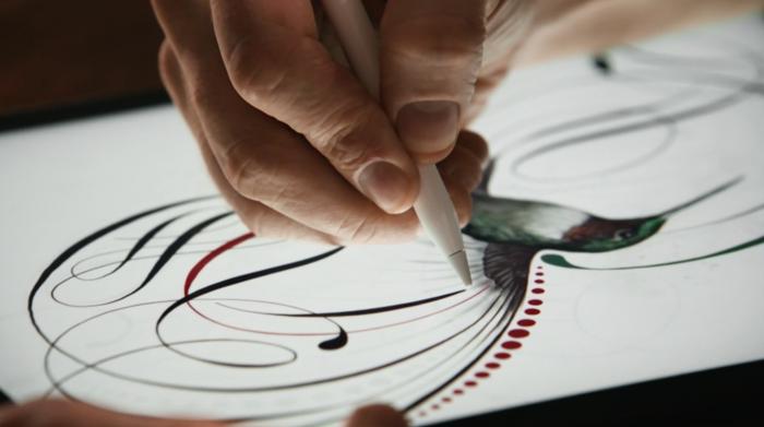 Apple Pencilin avulla käyttäjät voivat piirtää kätevästi iPad Prolla