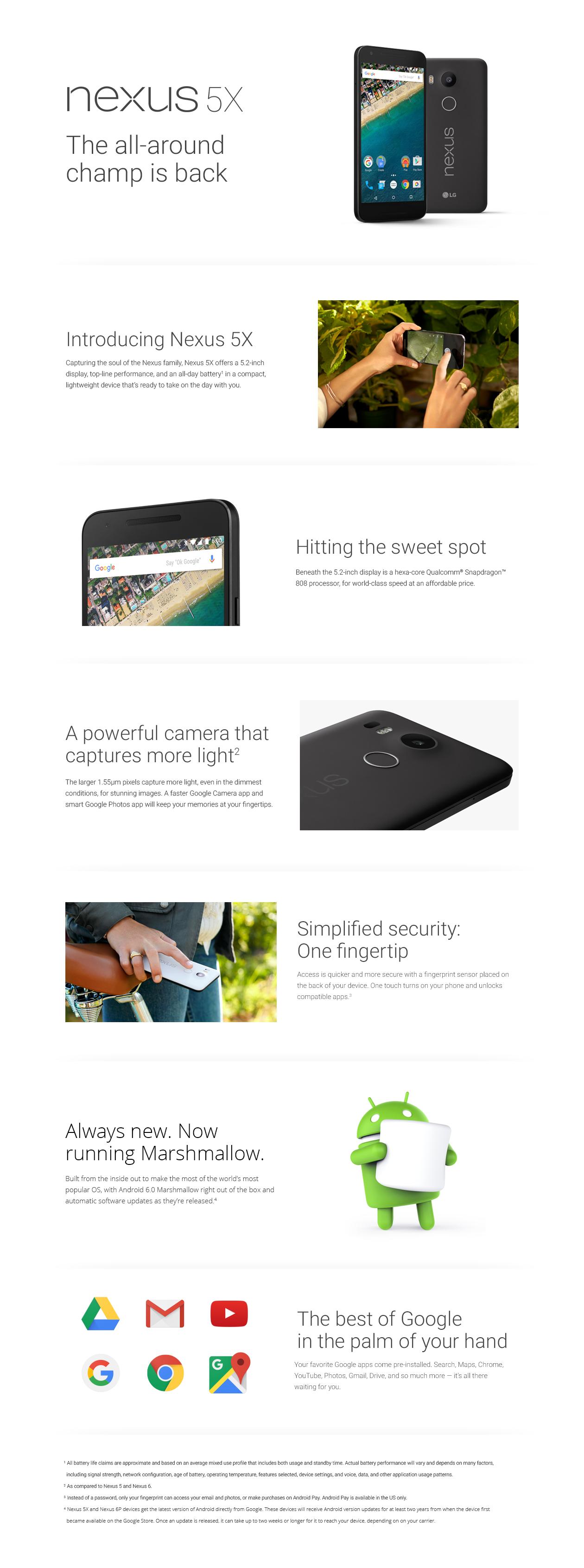Vuodettu dokumentti Nexus 5X:stä