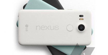 Nexus 5X kolmessa eri värissä