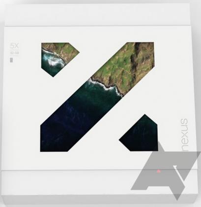 Nexus 5X:n oletettu myyntipakkaus