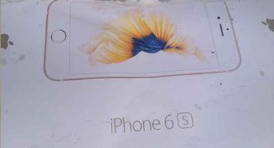Väitetty iPhone 6s:n myyntipakkaus.