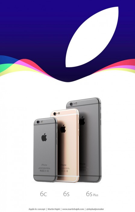 (Martin Hajek) iPhone 6c:n mahdollinen koko ja muotoilu iPhone 6s:n ja iPhone 6s Plussan rinnalla