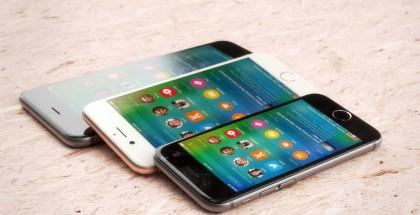 iPhone 6c:n mahdollinen koko ja muotoilu iPhone 6s:n ja iPhone 6s Plussan rinnalla