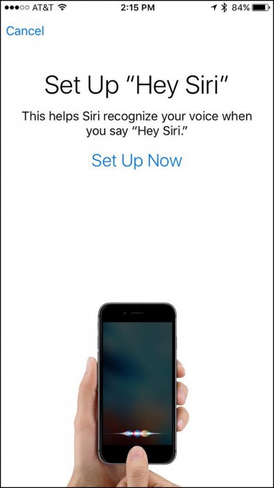 iPhone Hey Siri tunnistus