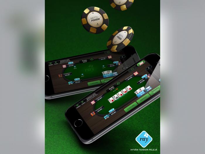 RAY Nettipokerin avulla pelaat uhkapelejä mobiililaitteillakin