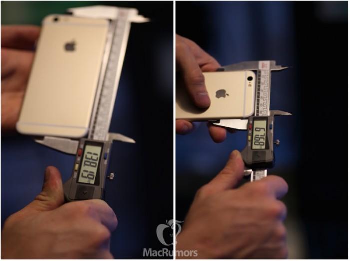 Myös korkeuden ja leveyden osalta iPhone 6s vaikuttaa edeltäjäänsä isommalta.