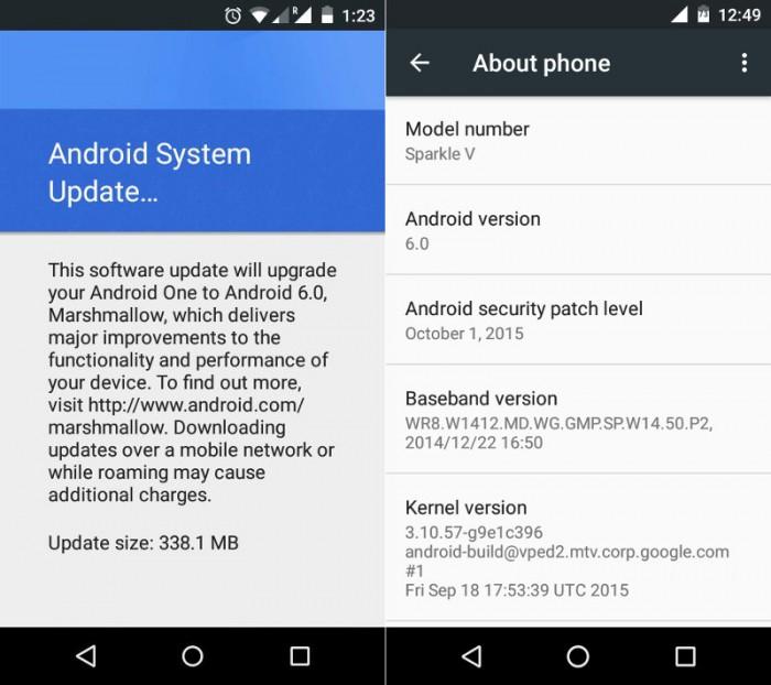 Android 6.0 Marshmallow -päivityksiä on havaittu Android One -laitteilla