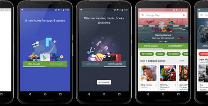 Google Playn etusivu juuri nyt