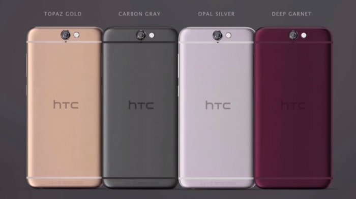 HTC One A9:n eri värivaihtoehdot