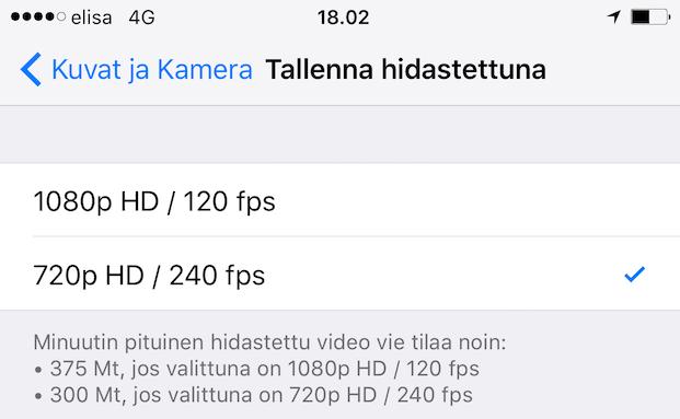 iPhone 6s hidastus