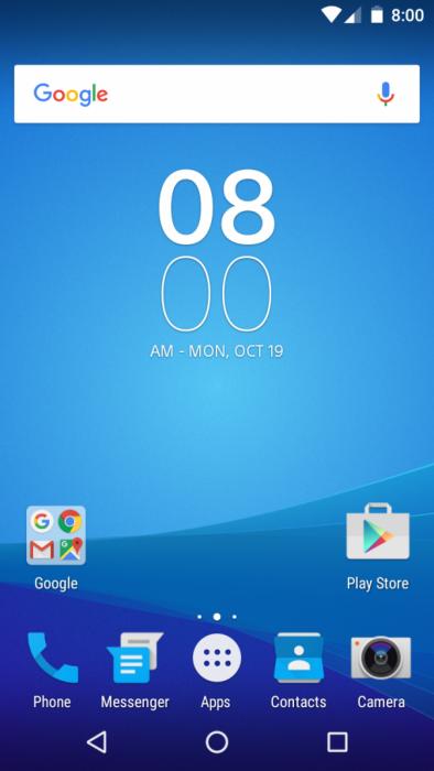 Sony puhdas Android Marshmallow konsepti