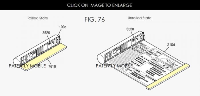 Samsung patentti taittuva näyttö