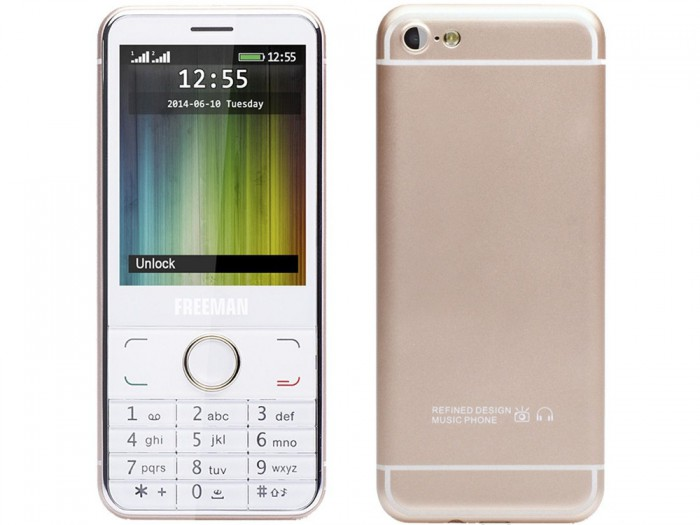 Freemanin mielenkiintoinen E-Boda T300. Puhelin muistuttaa ulkoisesti paljon iPhone 6:ta tai 6s:ää