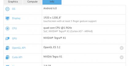Vielä julkaisematon Nvidia Shield Tablet X1 bongattiin GFXBenchin tuloslistoilla.