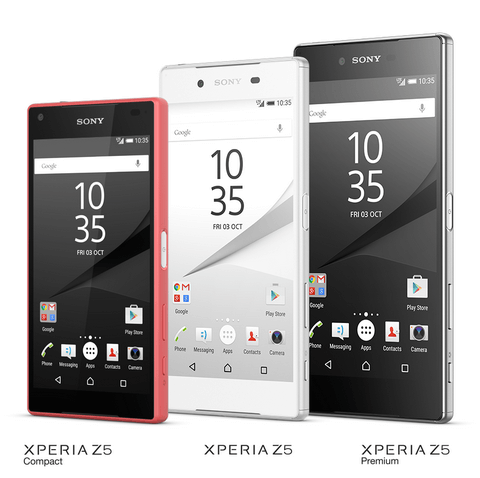 Sony Xperia Z5 -perhe käsittää kolme jäsentä.