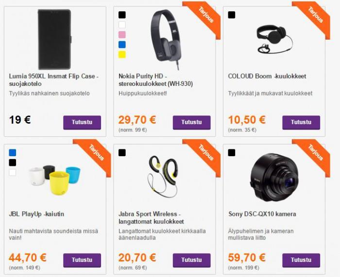 Black Friday -tarjouksia Soneran verkkokaupassa