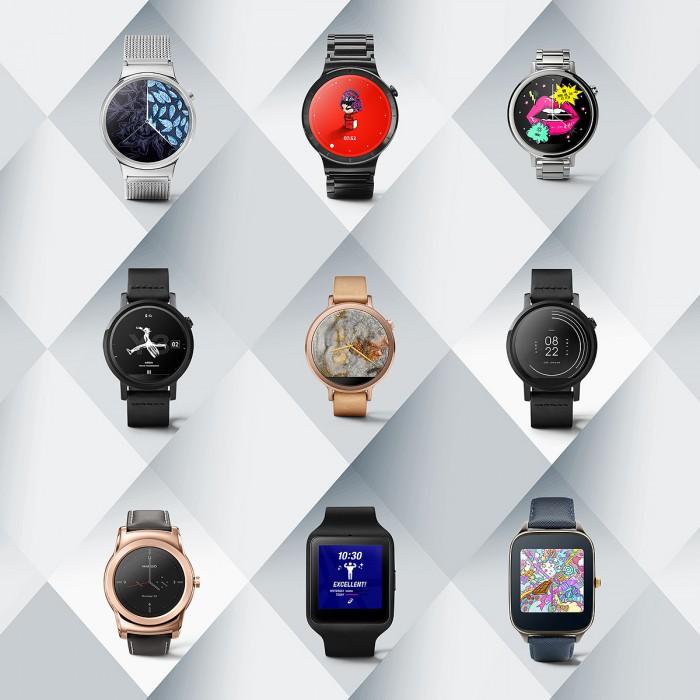 Uudet Android Wear -kellotaulut
