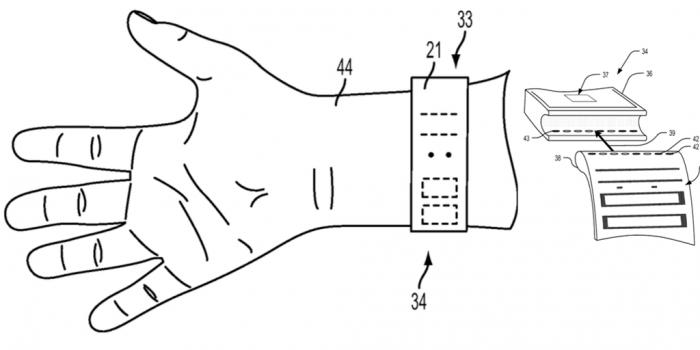 Apple Watch kangasruutu patentti