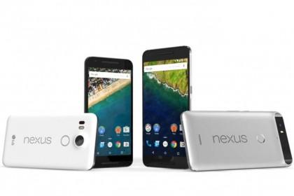 Nexus-laitteet saavat Googlen päivitykset heti. Kuvassa Nexus 5X ja Nexus 6P.