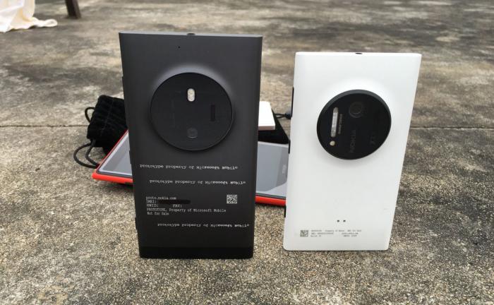 Vasemmalla McLaren ja oikealla Nokia Lumia 1020.
