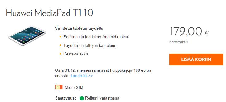Hintavinkki: Huawein tabletit tarjolla edullisesti – hinta pudonnut alle sataseen | Mobiili.fi
