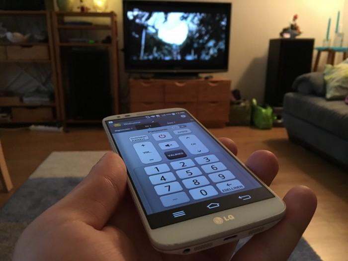 LG G2 toimii telkkarin kaukosäätimenä Quick Remote -sovelluksen avulla