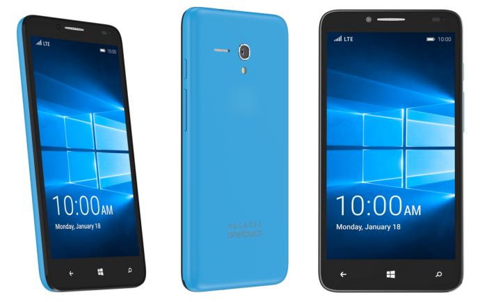 Alcatel OneTouch Fierce XL Windows 10 Mobilella varustettuna