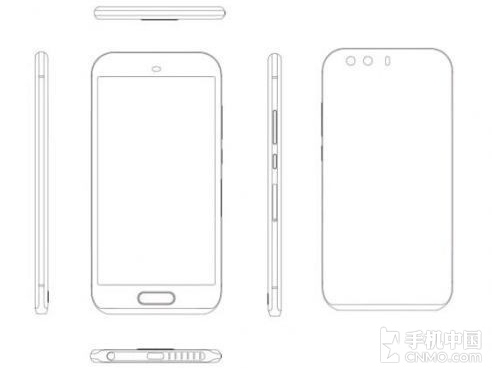 Huawei P9:n design vuotokuvassa