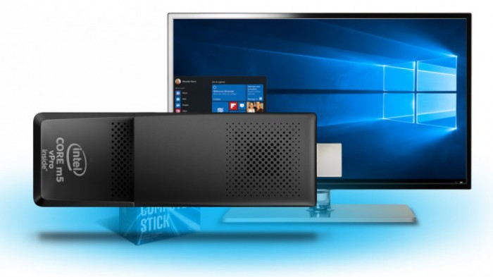 Intel Compute Stick tuo Windows 10:n televisioosi tai videotykkiisi