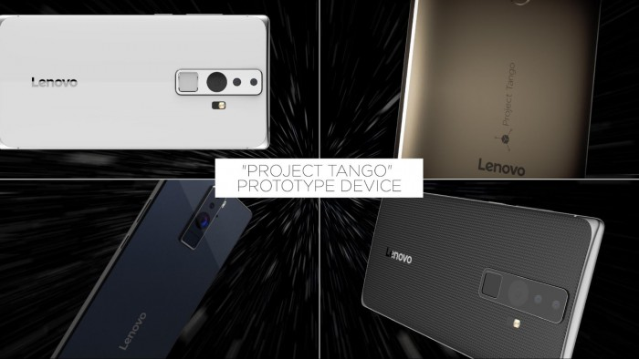 Lenovon Project Tango -puhelin konseptikuvissa