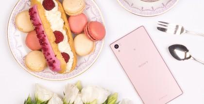 Sony Xperia Z5 uudessa vaaleanpunaisessa värissä