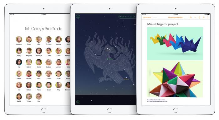 Opettaja voi iPadistaan avata sovelluksia oppilaiden laitteisiin ja nähdä mitä he tekevät